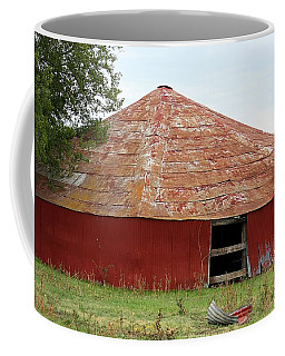 Round Red Barn Coffee Mug by Sheila Brown