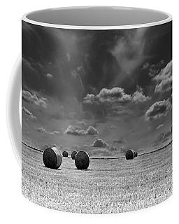 Round Straw Bales Landscape Coffee Mug