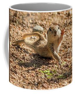 Round-tailed Ground Squirrel Stretch Coffee Mug by Tam Ryan