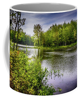 Coffee Mug featuring the photograph Round The Bend In Oil 36 by Mark Myhaver