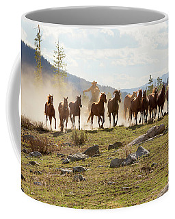 Coffee Mug featuring the photograph Round Up by Sharon Jones