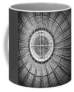 Roundhouse Architecture - Black And White Coffee Mug