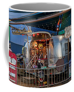 Route 66 And Airstream On Tha Pier Coffee Mug