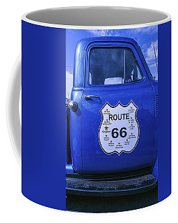 Route 66 Blue Truck Coffee Mug