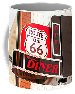 Route 66 Diner Sign In Springfield Coffee Mug