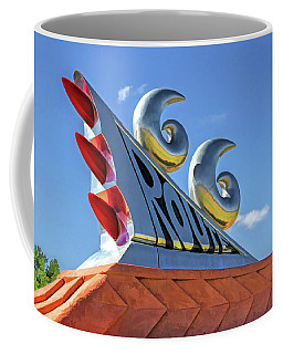 Coffee Mug featuring the painting Route 66 Monument by Christopher Arndt