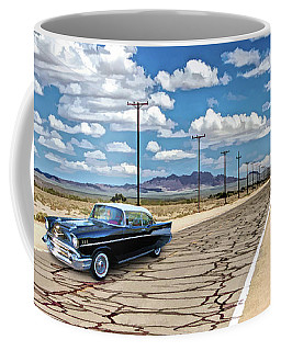 Coffee Mug featuring the painting Route 66 Newberry Springs California by Christopher Arndt