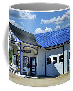 Coffee Mug featuring the painting Route 66 Odell Standard Oil Station by Christopher Arndt