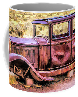 Coffee Mug featuring the painting Route 66 Rusted 1932 Studebaker by Christopher Arndt
