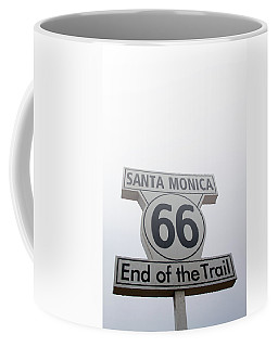 Route 66 Santa Monica- By Linda Woods Coffee Mug
