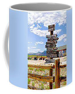 Route 66 Sign Post Coffee Mug