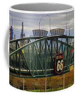 Route 66 Tulsa Sign - Hdr Coffee Mug