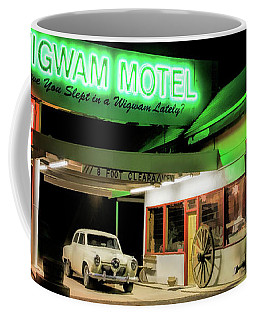 Coffee Mug featuring the painting Route 66 Wigwam Motel Car Port by Christopher Arndt