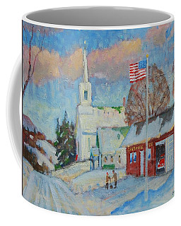 Route 8 North Coffee Mug by Len Stomski