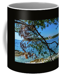 Rovinj Old Town Accross The Adriatic Through The Trees Coffee Mug