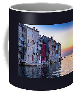 Rovinj Old Town On The Adriatic At Sunset Coffee Mug