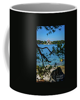 Rovinj Seaside Through The Adriatic Trees, Istria, Croatia Coffee Mug