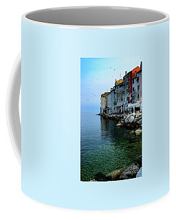 Rovinj Venetian Buildings And Adriatic Sea, Istria, Croatia Coffee Mug