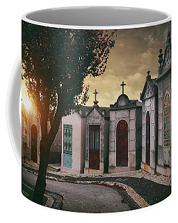 Coffee Mug featuring the photograph Row Of Crypts by Carlos Caetano