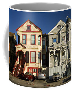 Row Of Victorian Houses In Oakland, California Coffee Mug