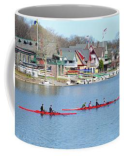 Rowing Along The Schuylkill River Coffee Mug