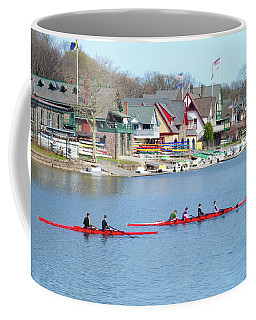 Rowing Along The Schuylkill River Coffee Mug