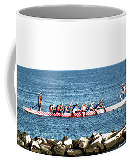 Rowing On The Bay Coffee Mug