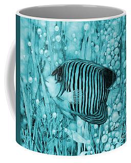 Royal Angelfish On Blue Coffee Mug