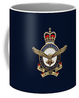 Royal Australian Air Force -  R A A F  Badge Over Blue Velvet Coffee Mug