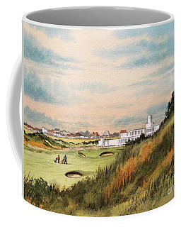 Coffee Mug featuring the painting Royal Birkdale Golf Course 18th Hole by Bill Holkham