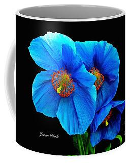 Royal Blue Poppies Coffee Mug
