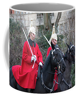 Royal Horse Guards And 1st Dragoons Coffee Mug by Roger Lighterness