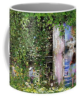 Coffee Mug featuring the digital art  Ruach Ha-kodesh by Dolores Develde