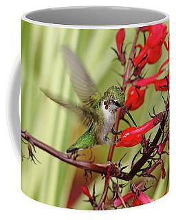 Ruby And Scarlet Coffee Mug by Debbie Oppermann