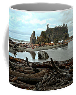 Ruby Beach Driftwood Coffee Mug