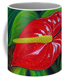 Coffee Mug featuring the painting Ruby Holiday by Debbie Chamberlin