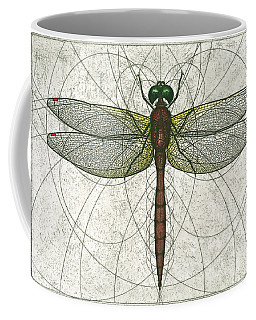 Ruby Meadowhawk Dragonfly Coffee Mug