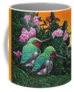 Ruby-throated Hummingbirds Coffee Mug by Michael Frank