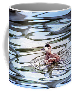 Ruddy Duck Swiimming In A Pond With Autumn Reflections Coffee Mug