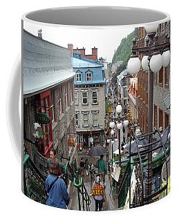 Coffee Mug featuring the photograph rue du Petit Champlain by John Schneider