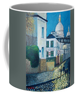 Rue Norvins, Paris Coffee Mug