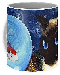 Rue Rue's Fortune - Siamese Cat Koi Coffee Mug