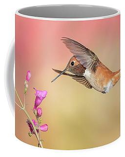 Rufous Hummingbird With Penstemon Coffee Mug