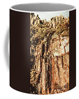 Rugged Vertical Cliff Face Coffee Mug