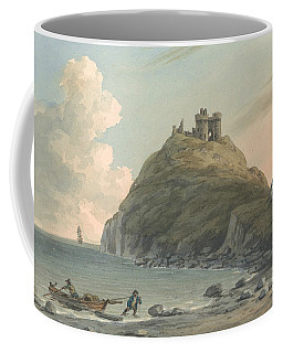 Ruins Of Cricceith Castle And Part Of The Town On The Bay On Cardigan. East View, Carnarvonshire Coffee Mug