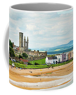 Ruins Of St Andrews Cathedral On The Beach Coffee Mug