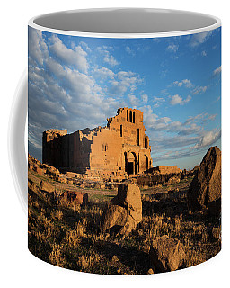 Ruins Of Yereruyk Temple Under Amazing Cloudscape, Armenia Coffee Mug