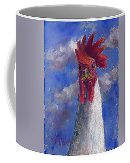 Coffee Mug featuring the pastel Ruler Of The Roost by Billie Colson