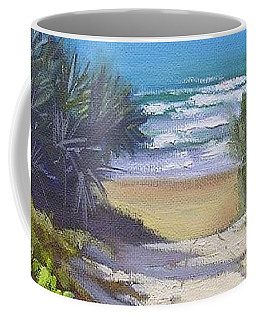 Coffee Mug featuring the painting Rules Beach Queensland Australia by Chris Hobel