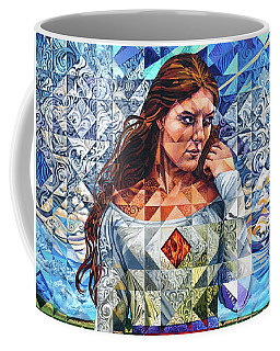 Coffee Mug featuring the painting Rules Of Refraction by Greg Skrtic